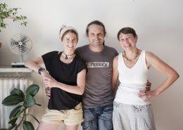 Alexander Huber mit Dominique de Marné und Vera Hahn | Foto: Robert Brembeck
