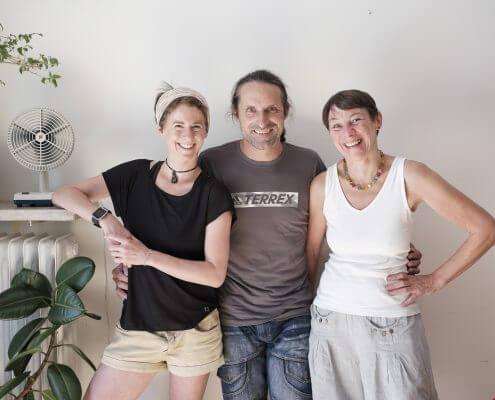 Alexander Huber mit Dominique de Marné und Vera Hahn   Foto: Robert Brembeck